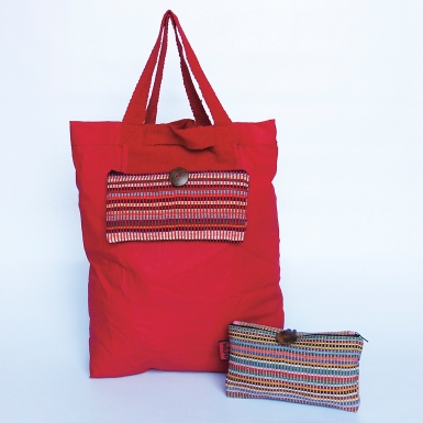 Cotton Shopping Bag WSDO-A002 Size: 46x40cm/11x21cm (when folded into self-containing pocket) Weight: 120g