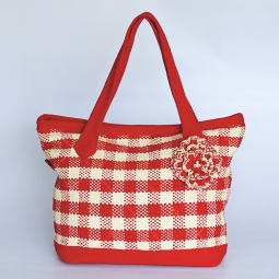 Koro Bag with Flower WSDO-B009 Size: 30x42x12cm Weight: 535g