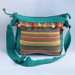 Pompom Side Bag WSDO-C029 Size: 26x30x10cm Weight: 285g