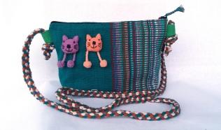 Double Cat Bag WSDO-C035 Size: 17x24x8cm Weight: 150g