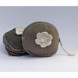 Round Purse with Flower WSDO-F004 Size: 10x10cm Weight: 25g