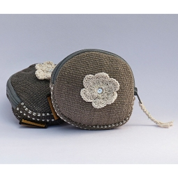 Round Purse with Flower WSDO-F004 Size: 10x10cm Weight: 25g
