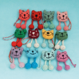 Cat Ornament WSDO-G006 Size: 8x4x2cm Weight: 10g each