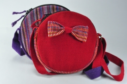 Round Shoulder Bag (With Bow) Size: 20x20cm