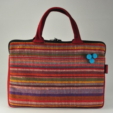 Laptop Bag with Handles (Pompoms) WSDO-N005 Size: 25x35x4cm