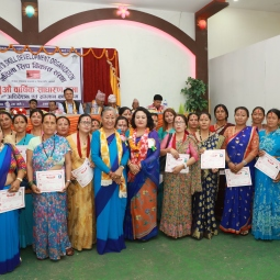 Awarding training certificates