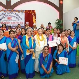 Awarding training certificates
