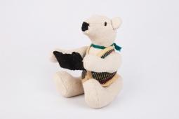 Bear doll w coat Size : 16cm x 13cm x 28cm Code : WSDO F002