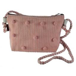 WSDO-N002, Pompom Effect Bag, Size: 19x28x7cm.
