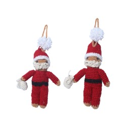 WSDO-L016, Knitted Santa, Size: 15x6cm, Weight: 32g.
