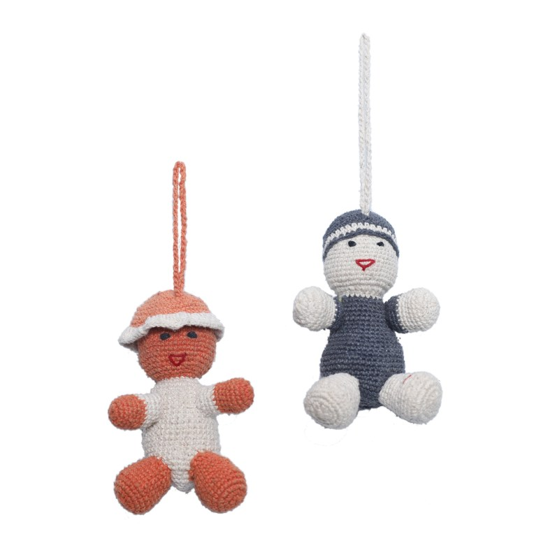 Hat Doll (left), WSDO-L008, Size: 11cm, Weight: 35g. Kufi Cap Doll (right), WSDO-L007, Size: 11cm, Weight: 37g.