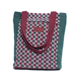 WSDO-A008, Shopping Bag with Outer Pocket, Size: 32x32cm, Weight: 305g.