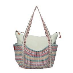 WSDO-B008, Four Pocket Shoulder Bag, Size: 32x43x20cm, Weight: 470g.