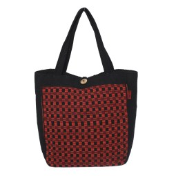 WSDO-B026, Tote Bag with Button, Size: 34x33x13cm, Weight: 460g.
