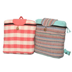 WSDO-D007, Square Back Pack, Size: 33x28x11cm, Weight: 395g.