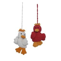 WSDO-G012, Key Chain Duck Fob, Size: 11x6x2cm, Weight: 15g.