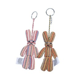 WSDO-G019, Rabbit Key Ring, Size: 14x6x1.5cm, Weight: 20g.