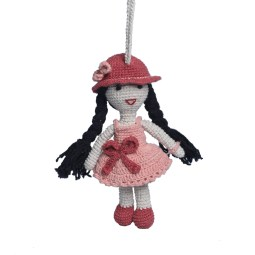 WSDO-L009, Long Hair Doll, Size: 15cm, Weight: 40g.