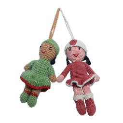 WSDO-L017, Crochet Girl, Size: 15x6cm, Weight: 32g.